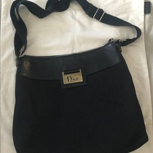 Dior Trotter monogram Leather/Canvas Handbag
